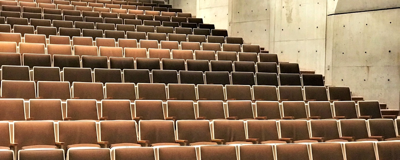 Empty auditorium seats
