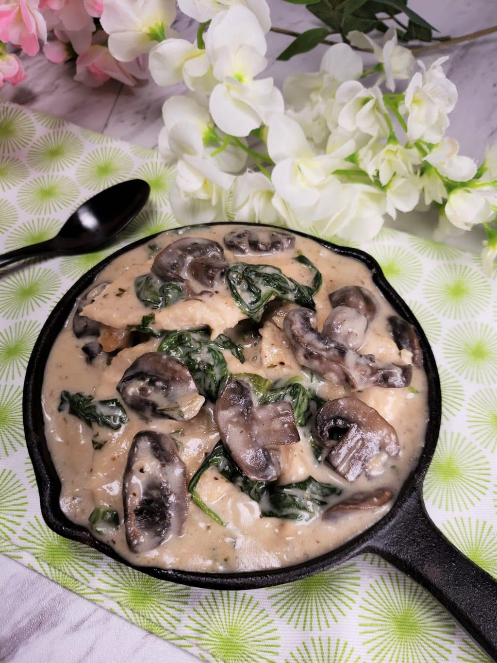 Mushroom Dishes to Pair with Pinot Noir - instant pot creamy parmesan garlic mushroom chicken