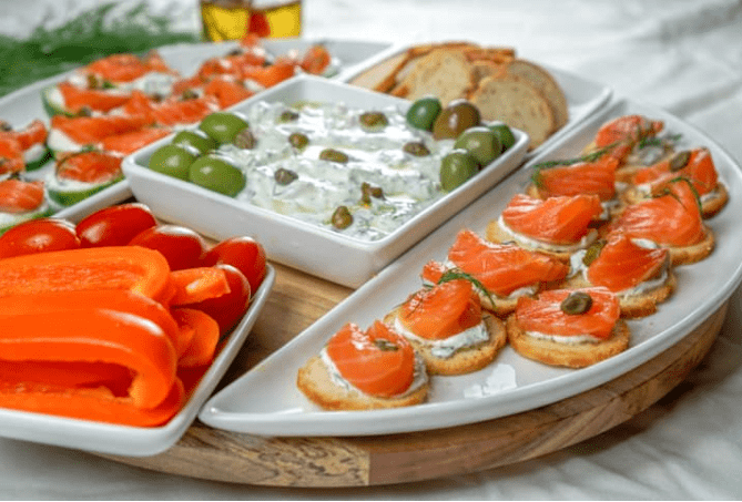 Lox Appetizer Platter Ideas - Smoked Salmon Appetizers for your next wine tasting