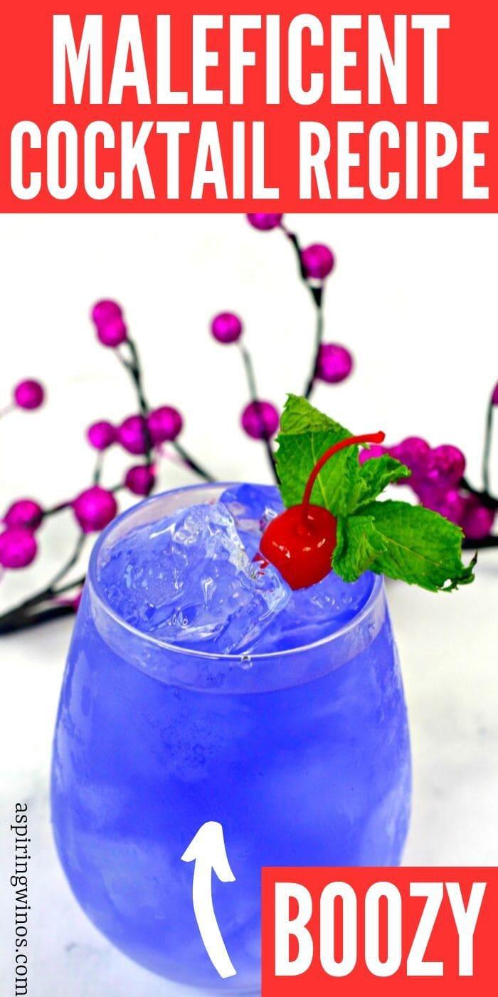 Maleficent Cocktail | Villain Cocktail Recipe | Maleficent Cocktail Recipe | Maleficent Vodka Cocktail | Disney Themed Cocktail | #disney #maleficent #cocktail #halloween #villain