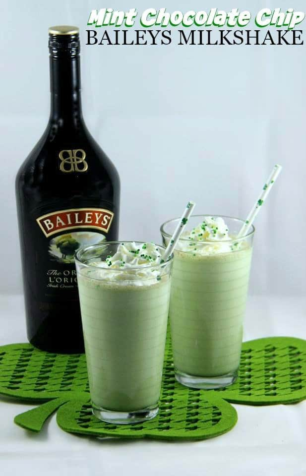 Green Cocktails To Celebrate St. Patrick's Day Without Beer - Mint Chocolate Chip Baileys Milkshake