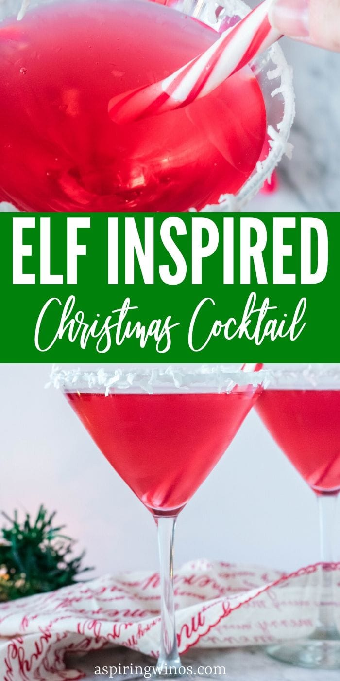 Naughty Elf Cocktail Recipe - whip up this fun bright red cocktail to enjoy or get you through, your choice, this festive holiday season. It's probably one of the best elf on the shelf ideas out there, you get to enjoy while moving that little guy around, hanging out with friends, or celebrating in style. #rum #cocktails #elfontheshelf #christmas #festivus