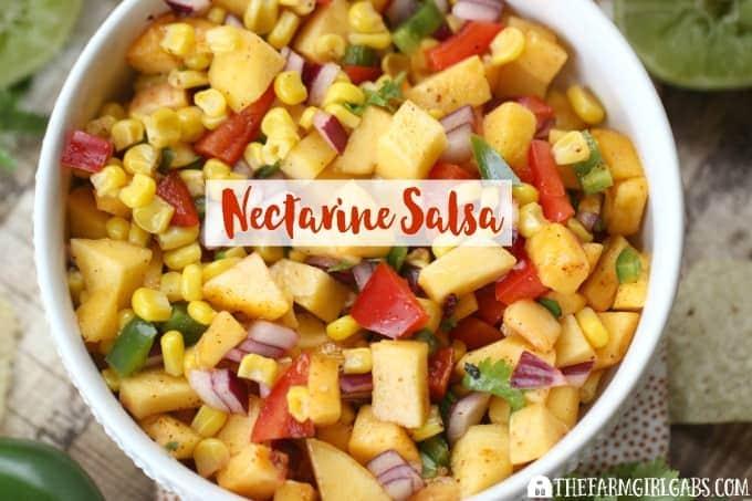 Sweet & Sassy Nectarine Salsa