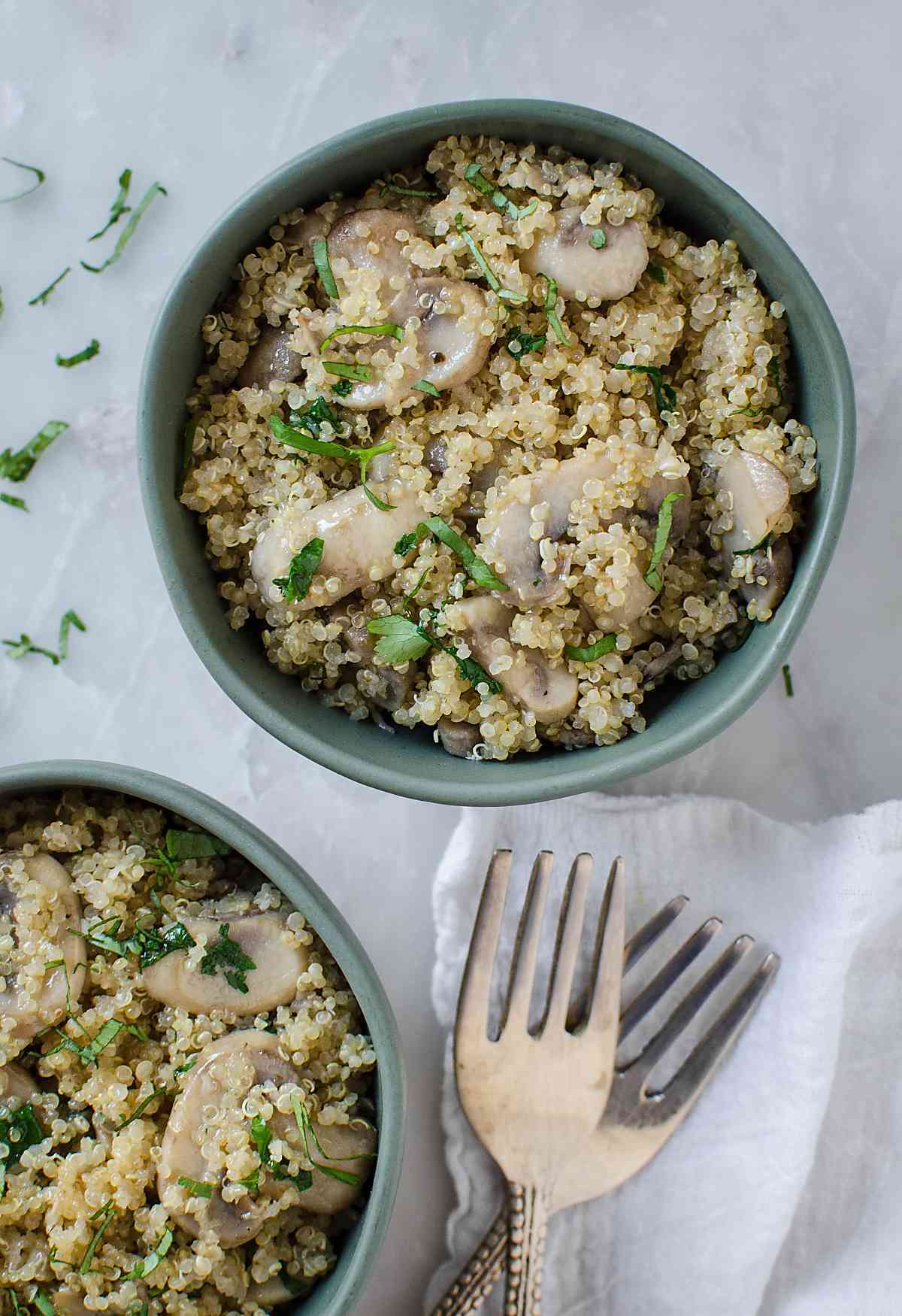 Mushroom Dishes to Pair with Pinot Noir - Garlic Mushroom Quinoa