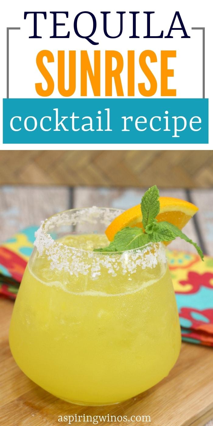 Orange Tequila Sunrise Cocktail
