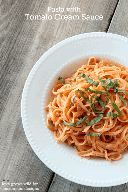Tomato Based Dishes To Pair With Chianti - Pasta with Tomato Cream Sauce
