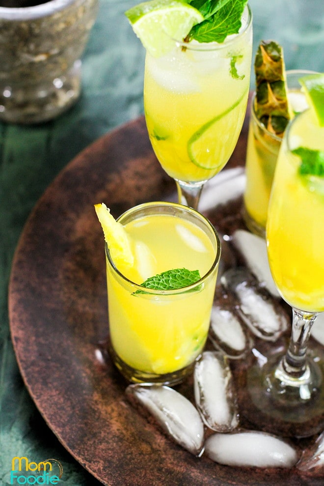 Pineapple Mojito - A Tropical Twist on the Classic Cuban Cocktail