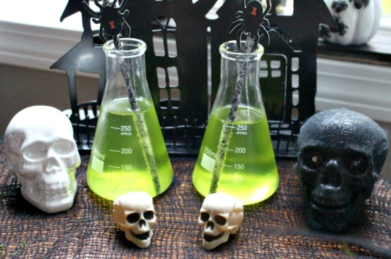 Spooky Halloween Cocktail Recipe - Poisoned Apple Martini