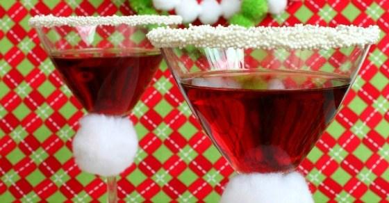 Santa Hat Martini - Pomegranate Martini