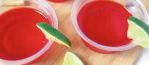 Easy Margarita Jello Shots: Raspberry Flavored| Margarita Jello Shots| Margarita Jello Shot Recipe| Margarita Mix Jello Shots| Raspberry Jello Shots| #jelloshots #margarita #cocktails