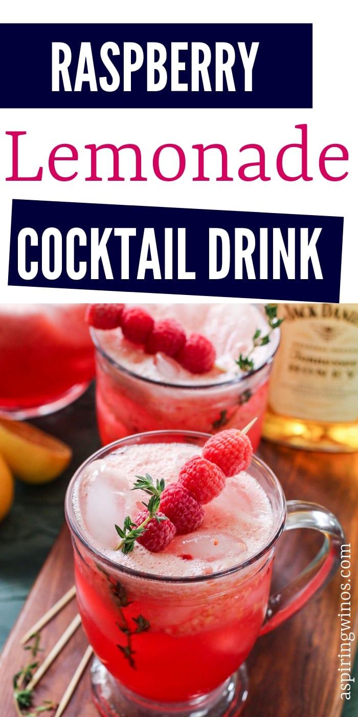 Raspberry Lemonade Cocktail | Spiked Lemonade Recipe | Peach Raspberry Lemonade | Boozy Lemonade | Lemonade Cocktails | #cocktails #lemonade #summer #partytime