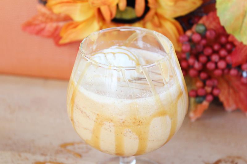 pumpkin spiced milkshake cocktail