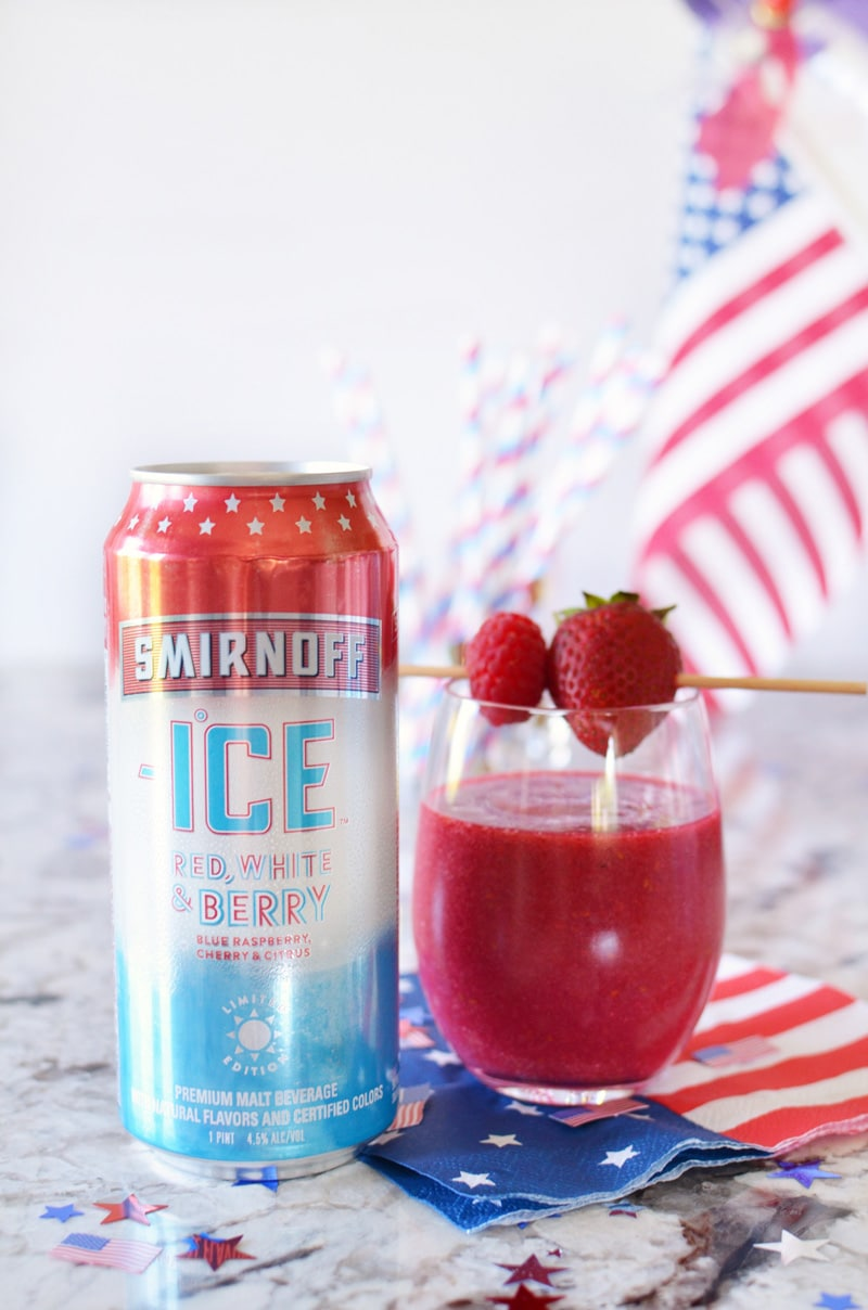 Patriotic Red, White and Blue Drink Ideas for Independence Day - Smirnoff Red, White & Berry Cocktail