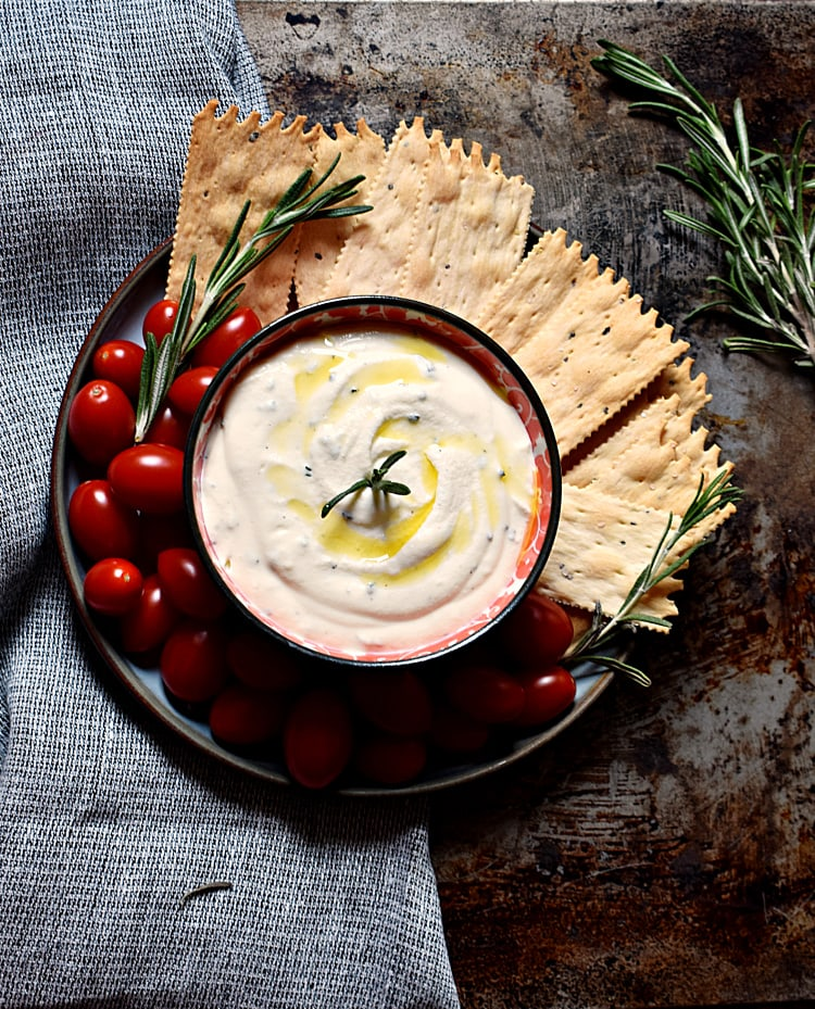 Rosemary, Truffle oil, And Ricotta Dip