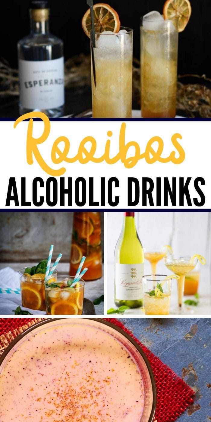 Rooibos Inspired Cocktails | Alcoholic Drinks | Southerner's African Cocktails | Caffeine Free Tea Cocktails | Boozy Tea | #rooibos #cocktails #tea #getyourdrinkon