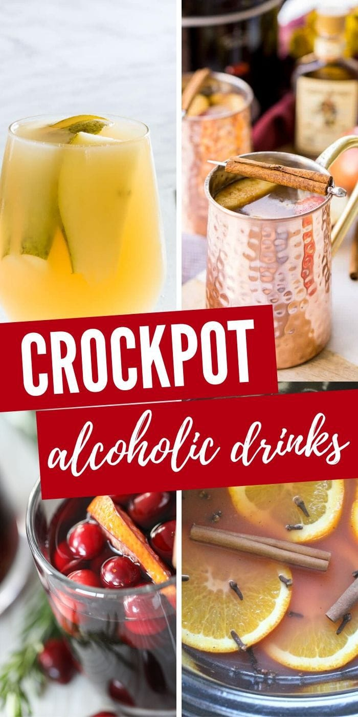 Alcoholic Drinks You Can Make in Your Slow Cooker | Slow Cooker Drinks | Best Cocktails You Can Make in Your Slow Cooker | How to Make Alcoholic Drinks in the Slow Cooker | Slow Cooker Alcoholic Beverages | #crockpotdrinks #cocktails #drinks #holidays
