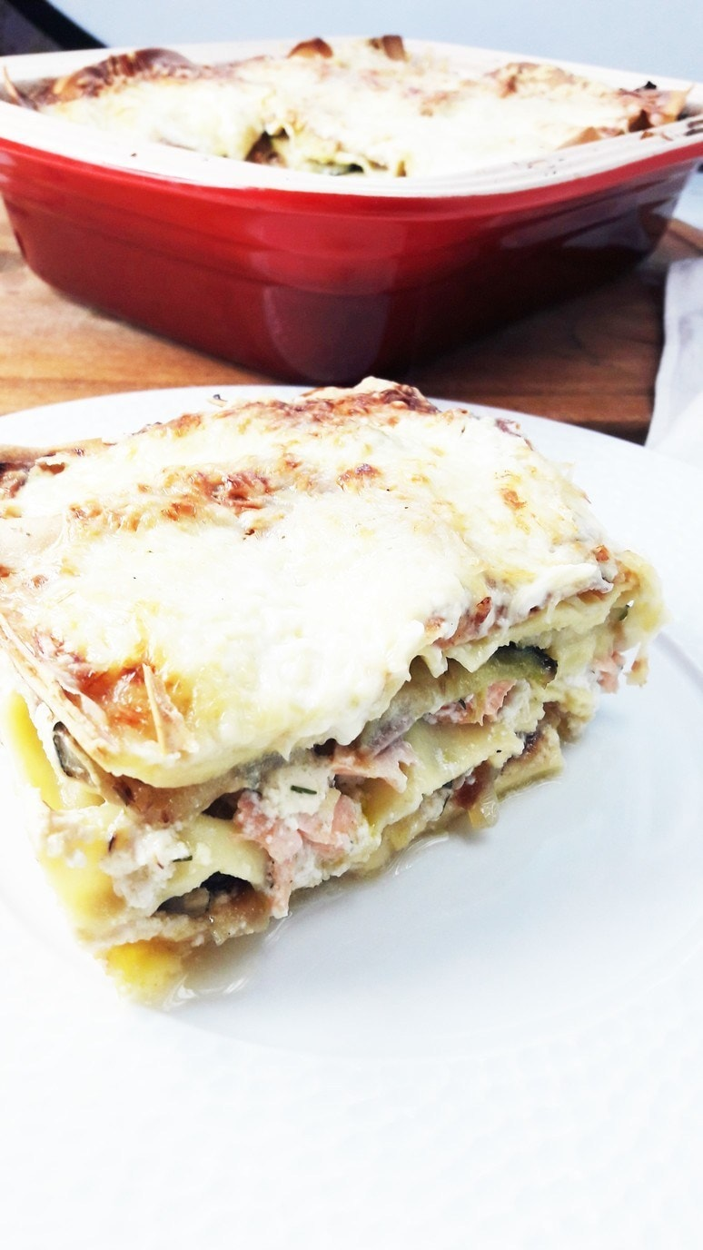 Salmon Zucchini Lasagna to serve with California Chard