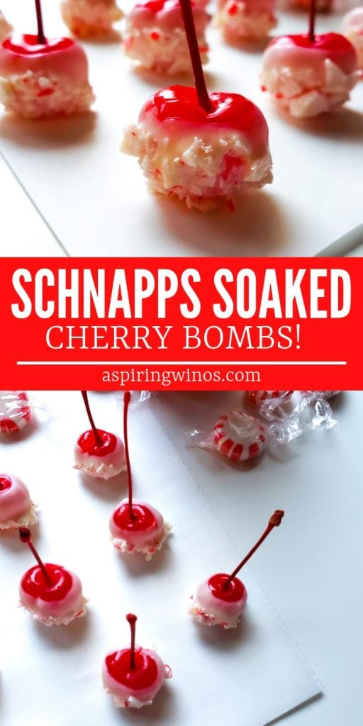 Romantic & Fun Schnapps Soaked Cherry Bombs - These super easy and delicious schnapps cherry bombs make a perfect #valentines day sexy treat, a fun red accent for a Canada Day or Independence Day BBQ idea, or a tasty #christmastreat. #recipes #cocktails