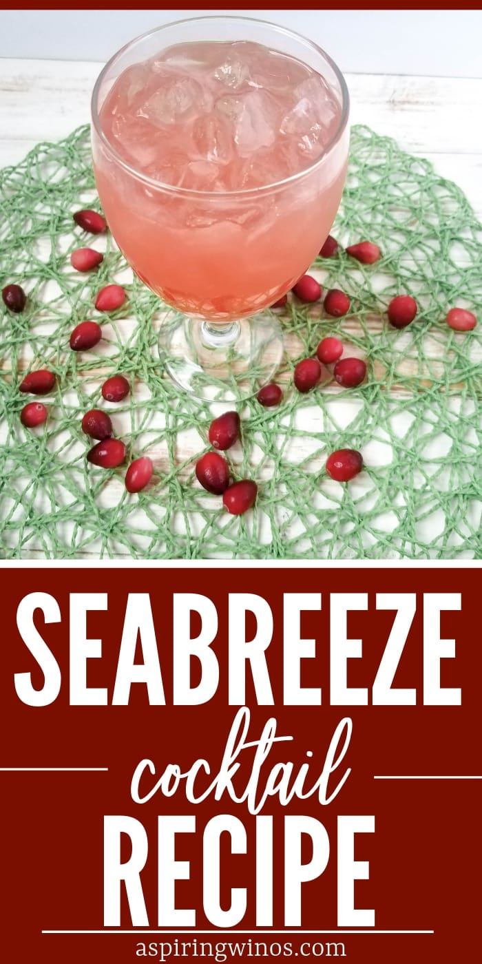 Make this classic sweet and sour Seabreeze cocktail in only five minutes. With flavors of grapefruit, vodka and cranberry, you won't feel like you need to stop because of the sugar. They make for a gorgeous pink hue, and even better this is an easy cocktail to make for a crowd, like at a breast cancer fundraiser, gender reveal party or a signature wedding drink. #cocktails #weddingideas #genderreveal #pinkdrinks