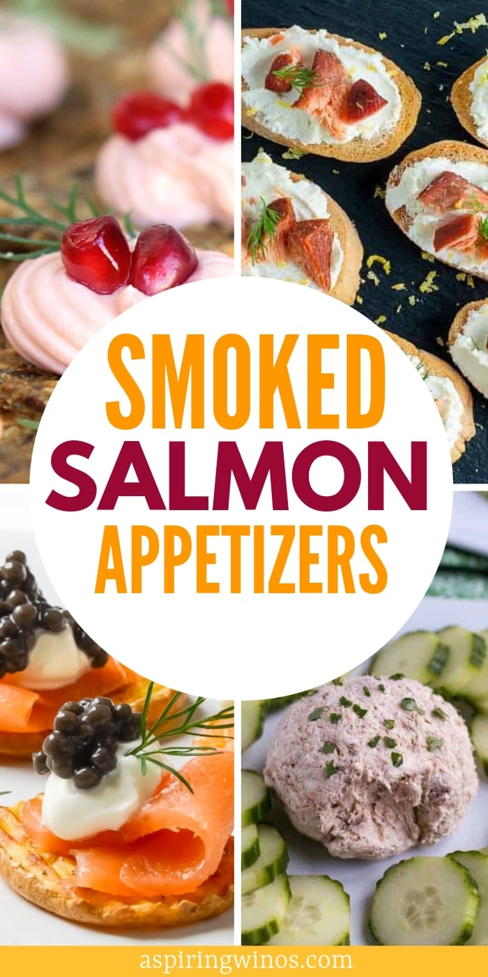 How to make delicious smoked salmon appetizer recipes to serve at your next wine tasting. Dream up amazing wine pairings to go with these yummy hors d'oeuvres, perfect to share with friends and family before dinner or as part of a small plates dinner menu. We've got hot and cold options as well as paleo, gluten free and keto friendly snacks. #winetasting #winepairing #appetizers #horsdoeuvres