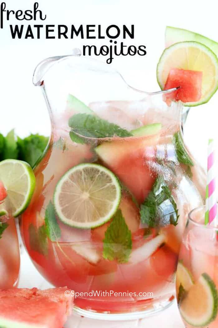 14 Must Make Rum Cocktails Fresh Watermelon Mojitos