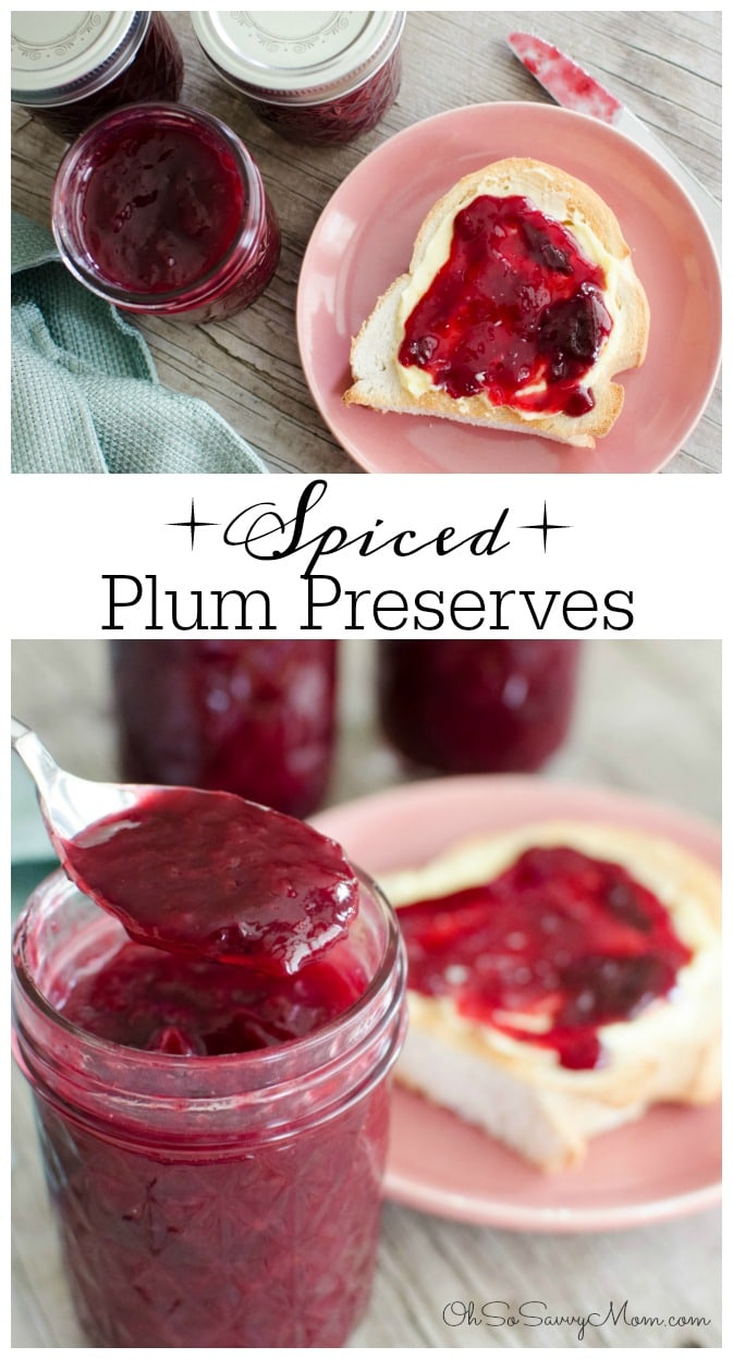 Delicious Jelly Recipes For Your Cheese Board - Spiced Plum Preserves Recipe