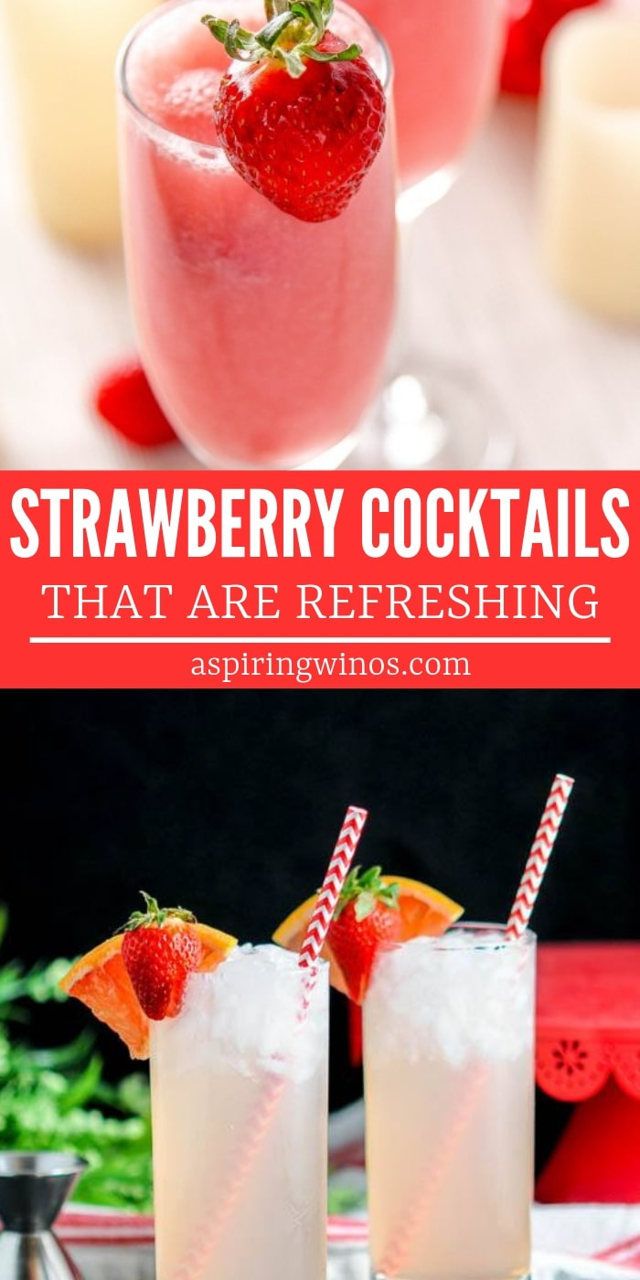 Strawberry Alcoholic Drinks to enjoy this summer with friends | Ways to use strawberries in drinks | Strawberry flavored drink ideas that are refreshing and alcoholic | Strawberry Alcoholic Drinks You Didn't Know You Needed| Stawberry Banana Alcoholic Drinks| Stawberry Drink Recipes| #recipe #cocktail #strawberrycocktail