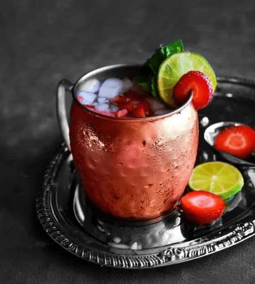 Strawberry Basil Mule