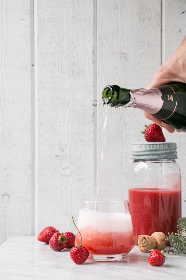 Strawberry Rosé Aperol Spritz