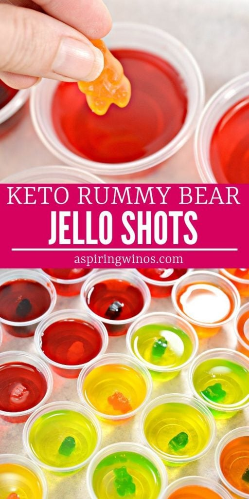Keto Jello Shots: Sugar Free Rummy Bear Jello Shots| Keto Jello Shots| Keto Jello Shots Recipe| Keto Sugar Free Jello Shots| Gummy Bear Jello Shots #gummybear #jelloshots #keto #cocktails #alcohol