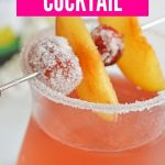 Sugar Plum Fairy Cocktail | Sugar Plum Punch | Cocktail Recipes | Colorful Cocktails | Pretty Punch | Punch Drunk | Cocktail Recipe | Happy Hour