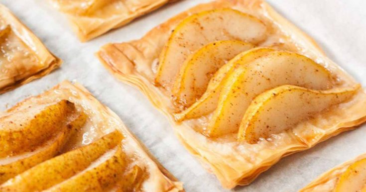 Pear and Honey Phyllo Tarts (Dairy Free)