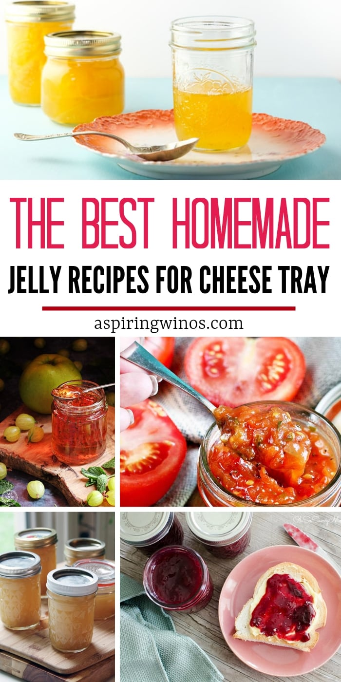 Level up your cheese boards with one of these homemade jelly recipes or jam recipes. | Pair your wine with cheese and add another dimension of flavor with an easy, seasonal or fun flavor DIY jelly. This will show you how to make a cheese board your guests will swoon over at your next wine tasting party. Yum! #jelly #jam #recipe #cheeseboard #wine #charcuterie #meatplatter