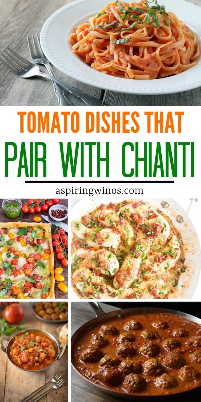 Must-Make Tomato Recipes for Your Next Wine Tasting Party | #tomato recipes | This is exactly how to pair food with Chianti, a classic Italian wine that's full bodied and can stand up to an acidic meal. You can use Chianti or Chianti Classico to make one of these main dishes that will wow your guests, even if you can't travel to Tuscany! #italian | #winepairing #tomatoes#recipes #winetasting #party