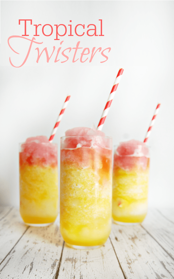 Virgin #Mocktails and Non-Alcoholic Cocktails | Tropical Twisters orange and pink slushie drinks