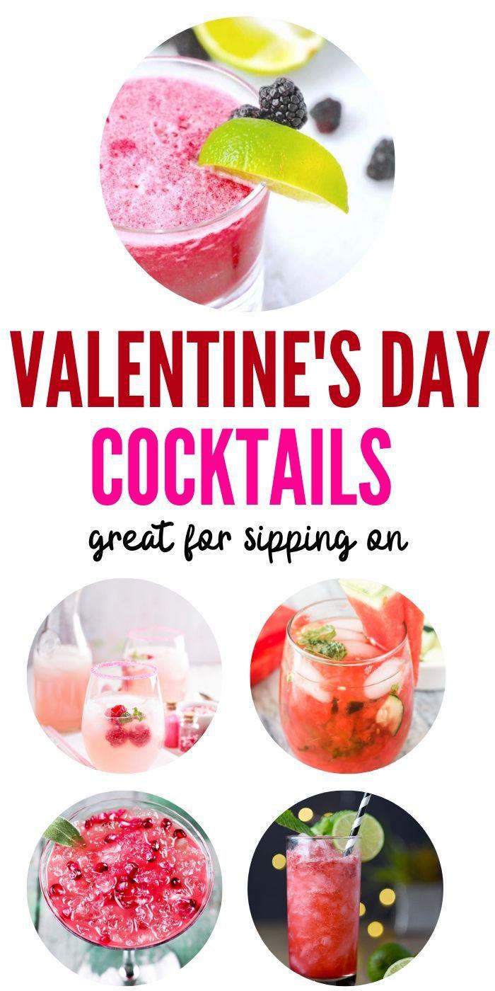 Valentine's Day Cocktails  Drinks for Valentine's Day  Best Valentine's Day Cocktails  Romantic Valentine's Day Cocktails  How to Have the Perfect Valentine's Day #ValentinesDay #cocktails #love #sweetestday #romanticdrinks
