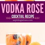 Rose Cocktail | Vodka Sangria | Blackberry Cocktail | Fruit Cocktail | Summer Cocktail | Spring Drink Recipe | Vodka Rose Cocktail Recipe | #vodka #rose #wine #sangria #cocktail