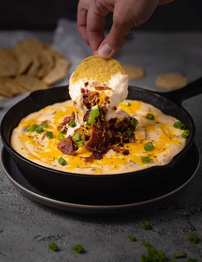 Warm Bacon Ranch Cheese Dip