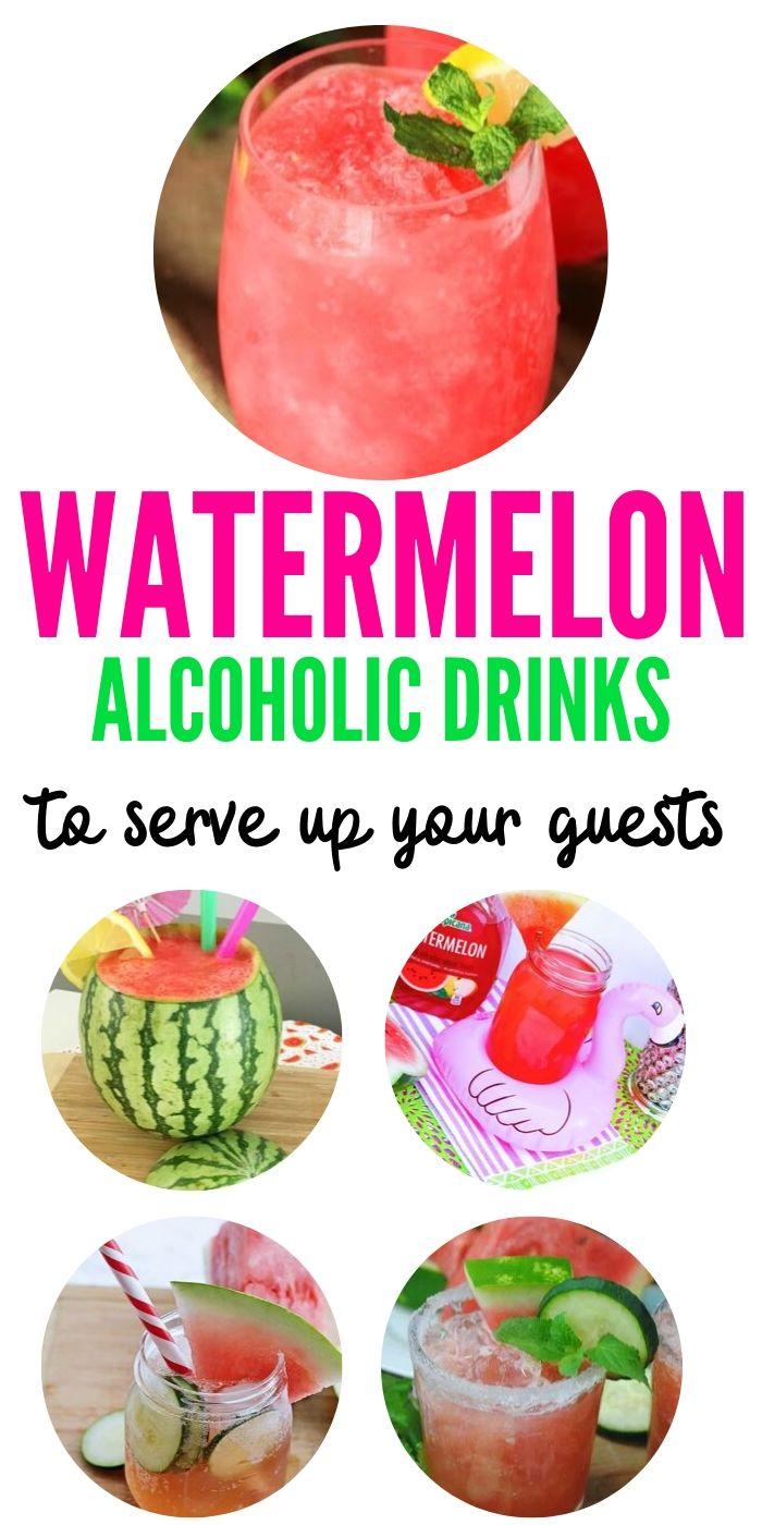 Watermelon Alcoholic Drinks | Summer Drinks | Cocktails for Summer | Watermelon Cocktails | The Best Watermelon Drinks | The Best Summer Cocktails | Watermelon and Alcohol | #watermelon #summerfun #cocktails