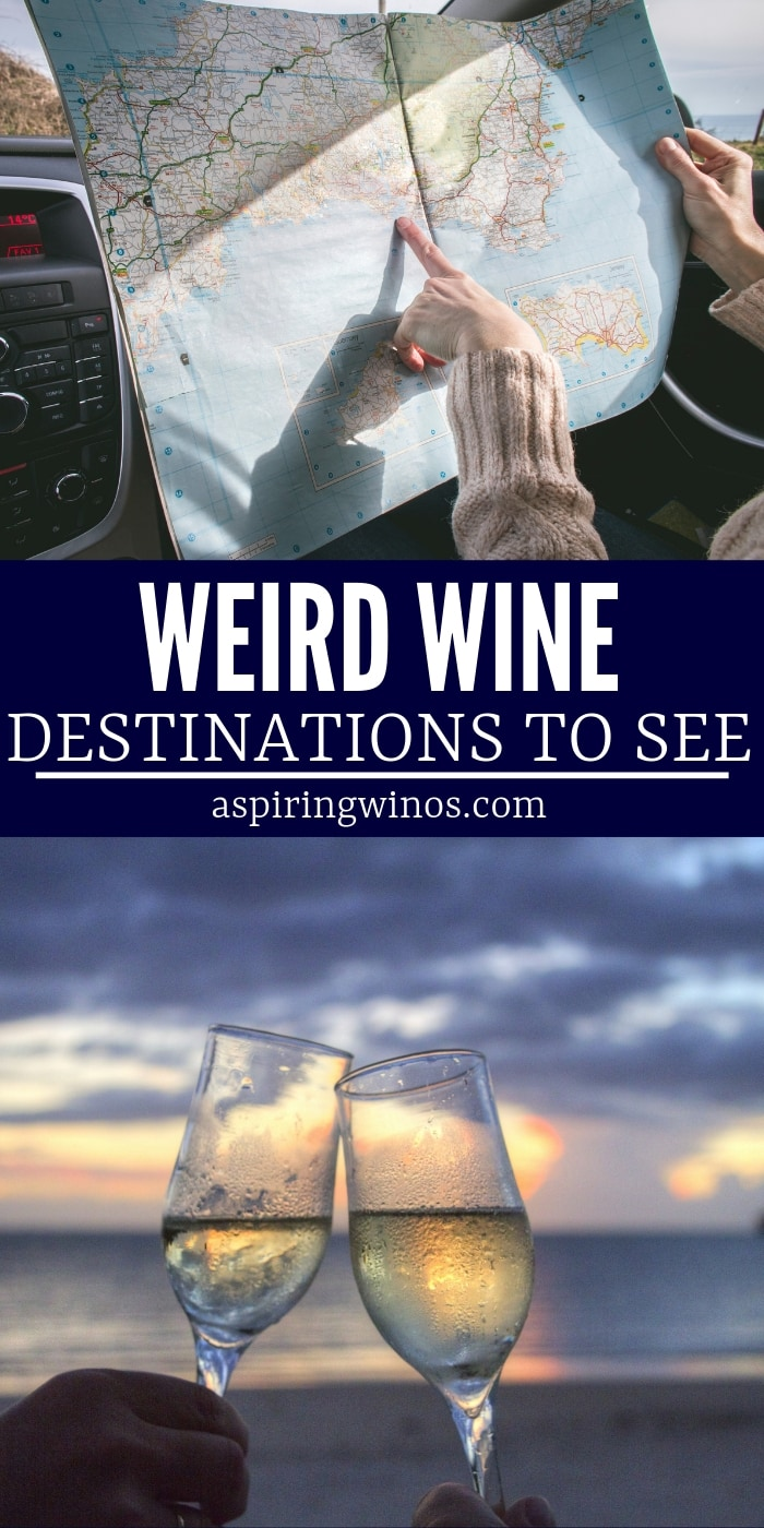 Have you been to any of these 7 weird wine destinations? Add a new stop on your bucket list, or mark off the ones you've already visited. When you are planning a trip to wine country, think beyond the standard wine regions and consider some of these adventurous destinations. #wine #winetravel #bucketlist #adventure