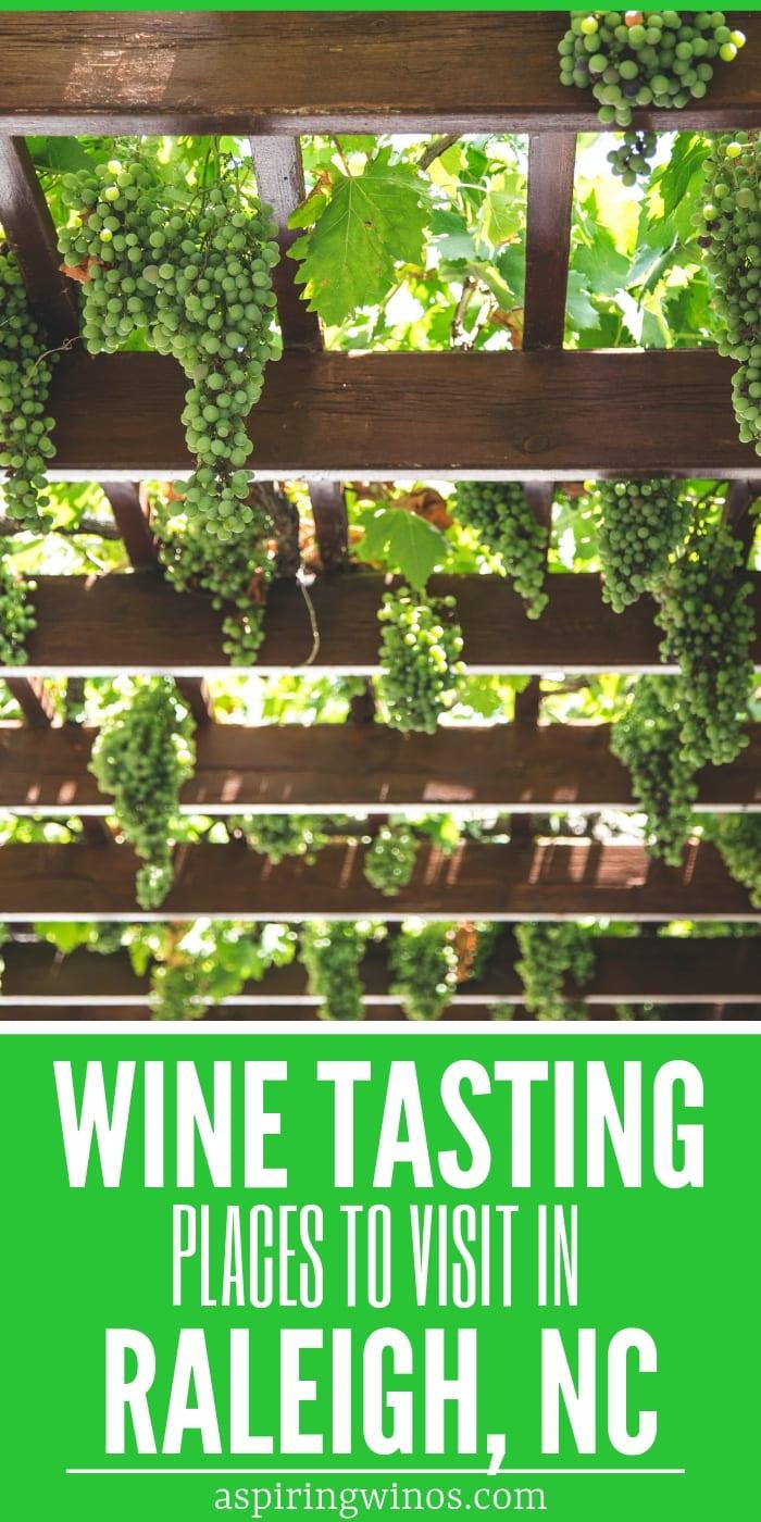 wine tasting in Raleigh, NC