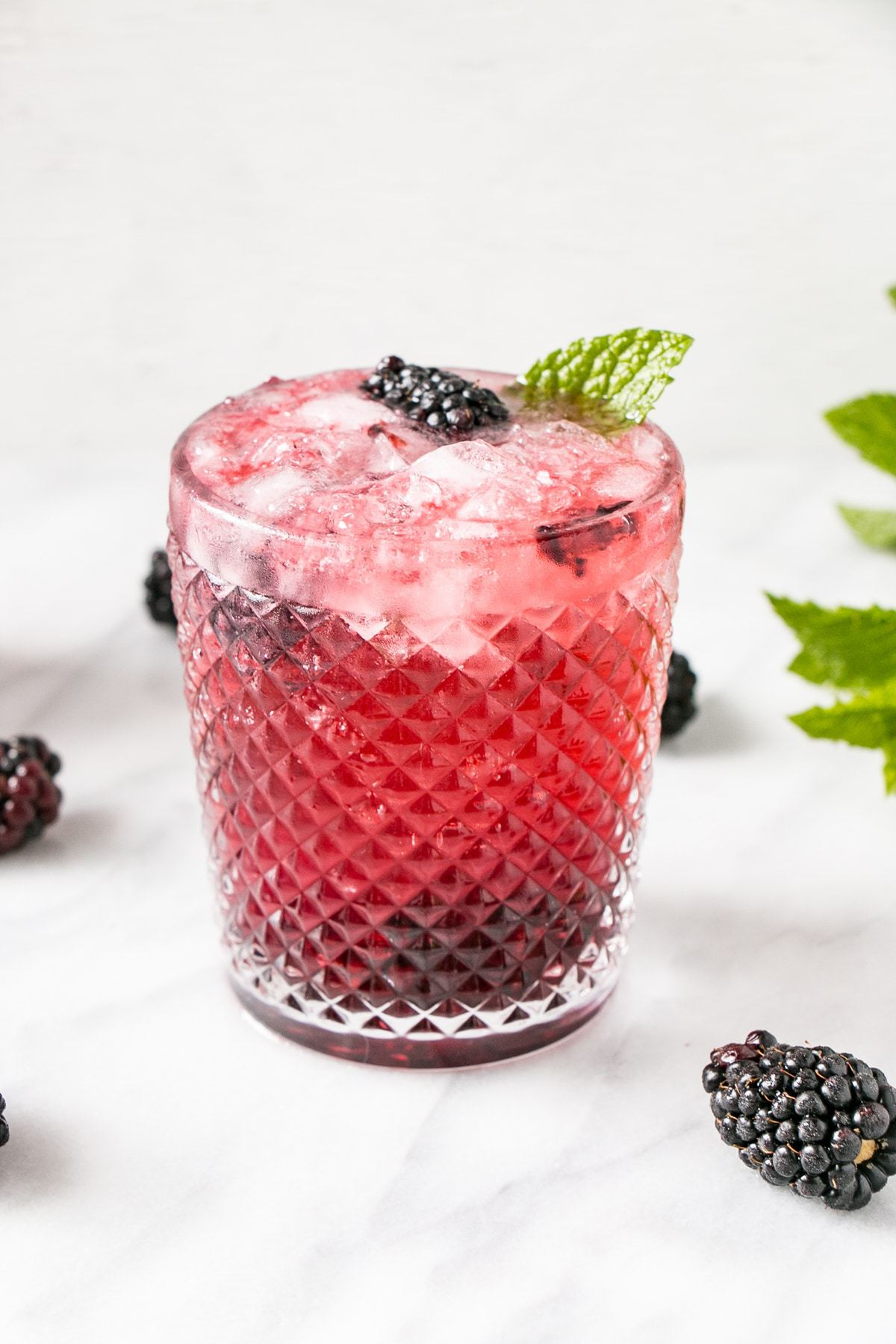 Rum Cocktail Idea - Blackberry Mojito