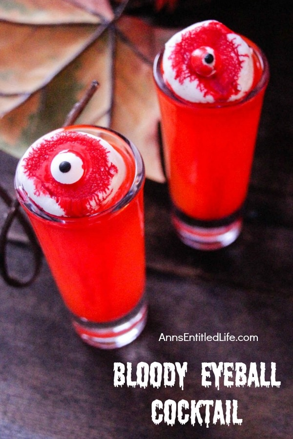 Spooky Halloween Cocktail Recipe - Bloody Eyeball Cocktail