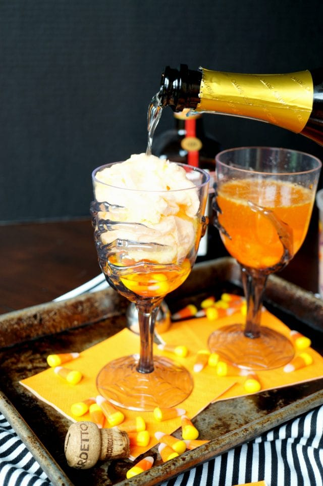 Spooky Halloween Cocktail Recipe - Vanishing Candy Corn Cocktails