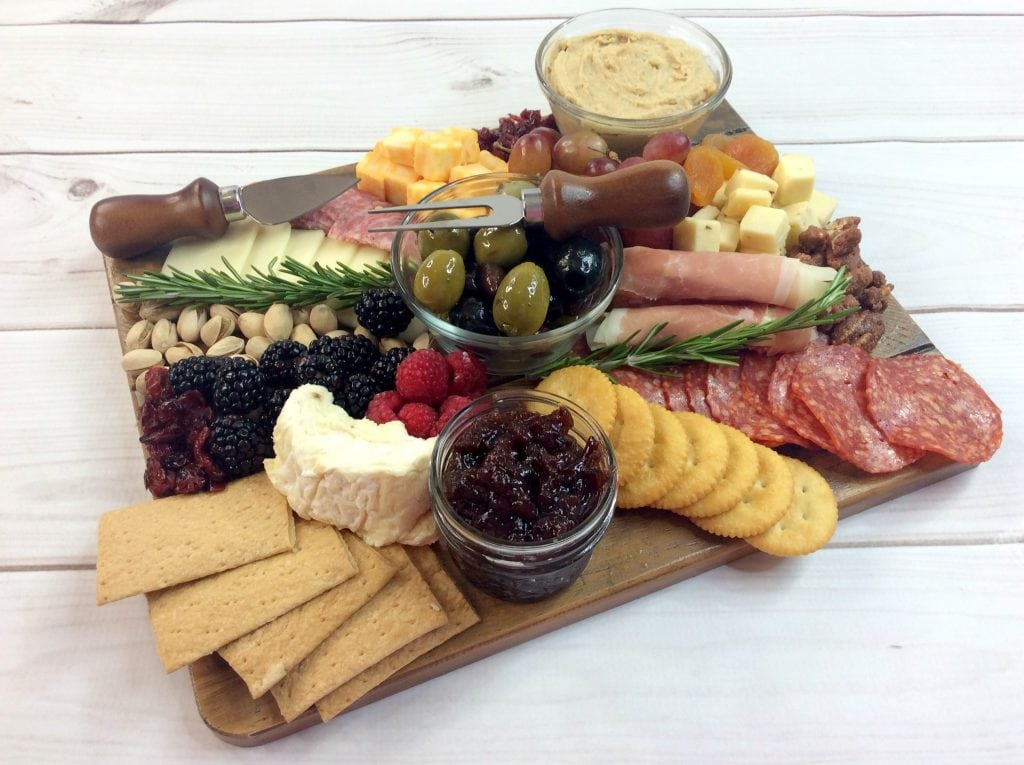 Cranberry cheese platter recipe spread for wine night
