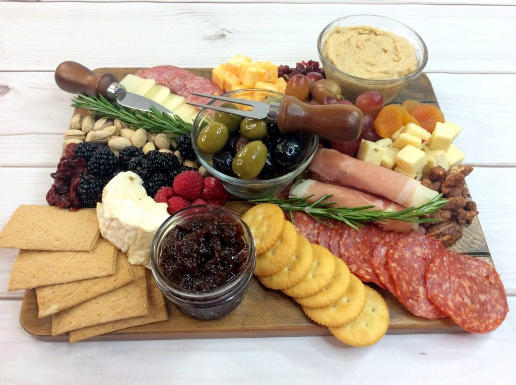 Wine and cheese night platter recipe cranberry