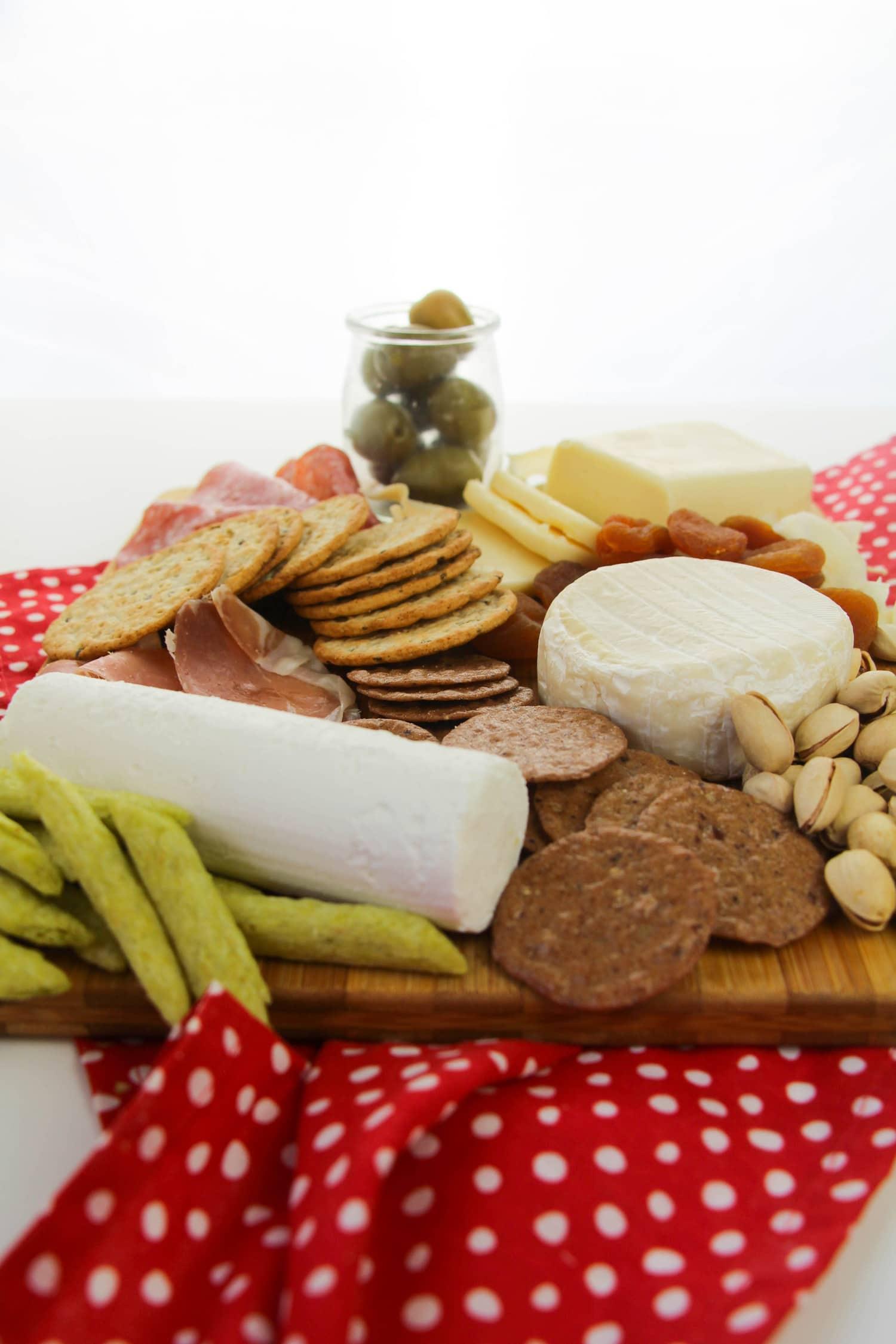 Items on Gluten-Free Cheeseboard