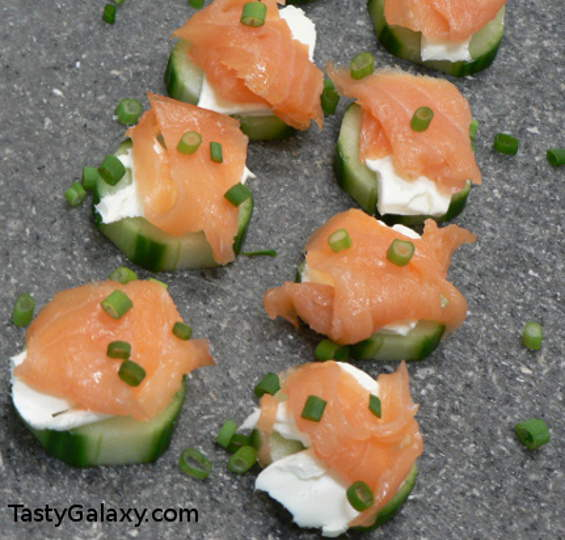 Smoked Salmon GF Snack - Smoked Salmon Appetizer Recipes for a Wine Tasting Party