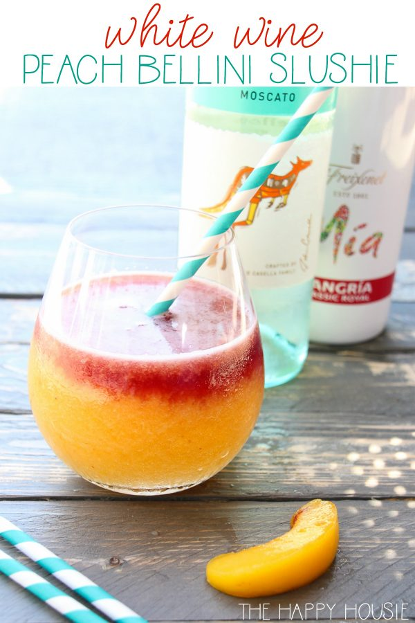Peach and White Wine Bellini Slushies