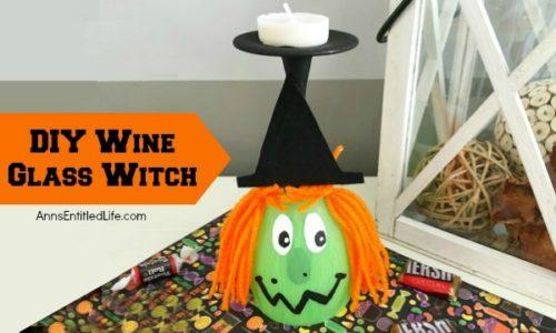 DIY Wine Glass Witch